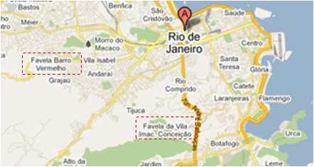 Rio de Janeiro sur Google Maps en 2011