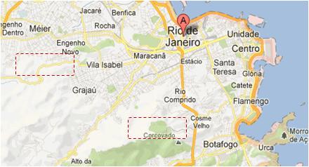 Rio de Janeiro sur Google Maps en 2013