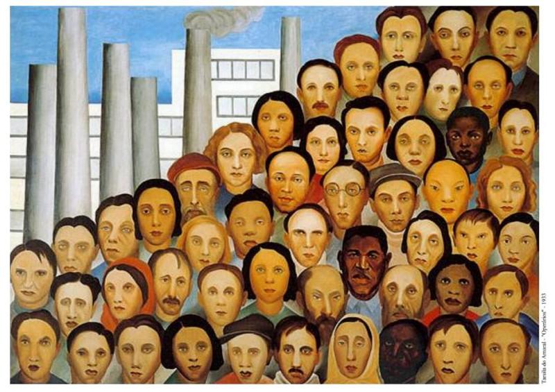 """""""Travailleurs"""" par Tarsila do Amaral (1933). Dont les Gêmeos se sont clairement inspirés !"""