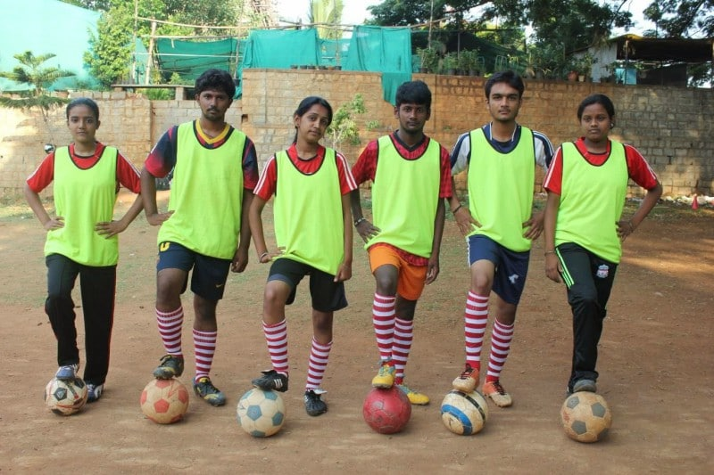 L'équipe de Bangalore, en Inde.