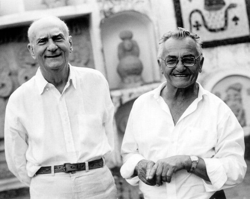 Suassuna avec Borges, maître de xilogravure