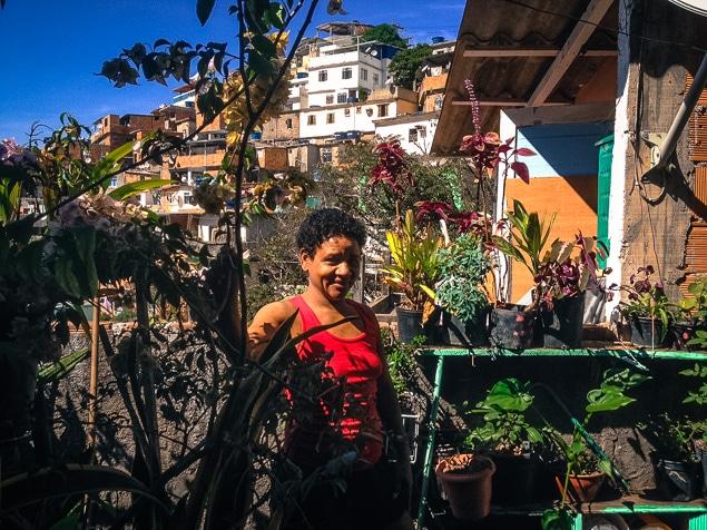 Une résidente de la favela Vidigal