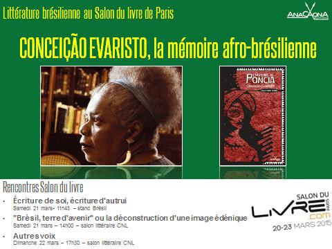 Concecao Evaristo au Salon du livre 2015 de Paris