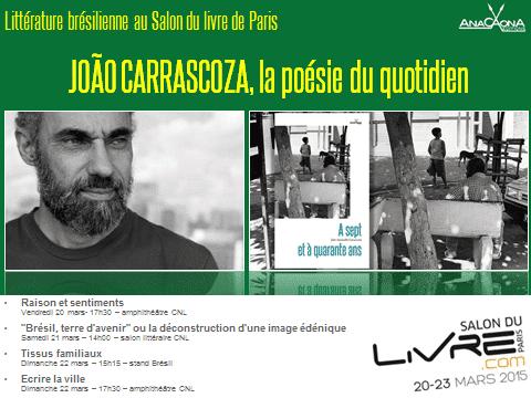 Joao Carrascoza au Salon du livre 2015 de Paris