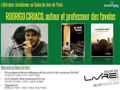 Rodrigo Ciriaco au Salon du livre 2015 de PAris