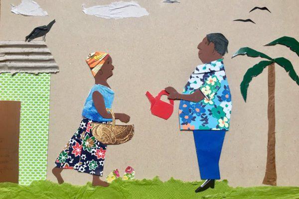 Illustration faite par Eymard sous nos yeux, au salon Livre Paris, en quelques coups de ciseaux... Quel talent :-)