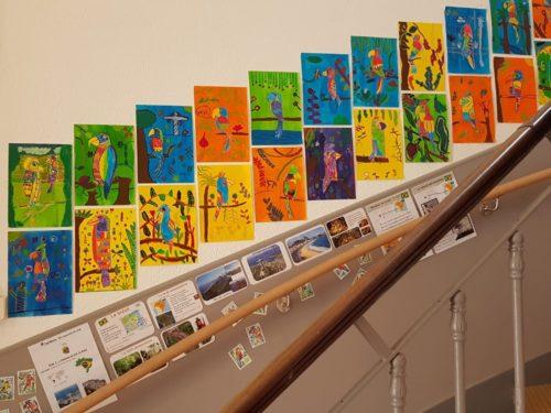Les dessins faits par la classe de CM1 de l'école de Sévigné à Bordeaux...