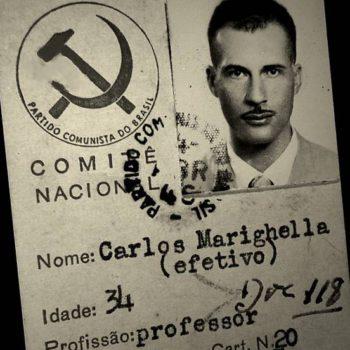 """Carte d'adhesion au Parti Communiste Brésilien. """"Carlos Marighella, 34 ans, professeur"""""""